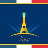 Conception de points de repère de Paris Images stock