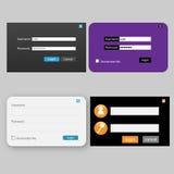 Conception de procédure de connexion et de mot de passe Images stock