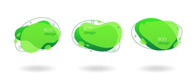 Conception de produits d'Eco, bannières géométriques liquides images stock