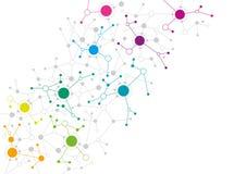 Conception de réseau abstraite illustration libre de droits
