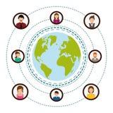 Conception de réseaux Photo libre de droits