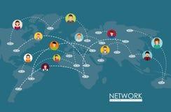 Conception de réseaux Photos stock