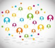 Conception de réseaux Images stock
