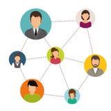 Conception de réseaux Image libre de droits
