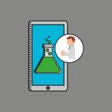 Conception de récipient de technologie de recherches de scientifique Photographie stock libre de droits