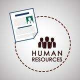 Conception de ressources humaines Icône de personnes Concept des employés Image stock