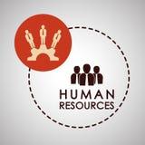 Conception de ressources humaines Icône de personnes Concept des employés Photos stock
