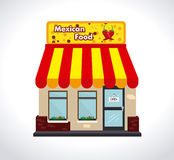 Conception de restaurant illustration libre de droits