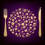 Conception de restaurant. Vecteur Images libres de droits