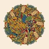 Conception de roue de filigrane de mehndi de Hina Naturel fait main Images stock
