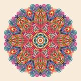 Conception de roue de filigrane de mehndi de Hina Naturel fait main Photographie stock