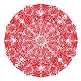 Conception de roue de filigrane de mehndi de Hina Naturel fait main Photos libres de droits