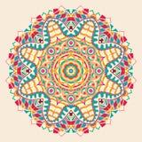 Conception de roue de filigrane de mehndi de Hina Naturel fait main Photographie stock libre de droits