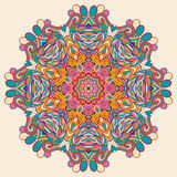 Conception de roue de filigrane de mehndi de Hina Naturel fait main Photo libre de droits