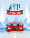 Conception de routes d'hiver Images stock