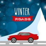 Conception de routes d'hiver Image libre de droits