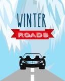 Conception de routes d'hiver Photographie stock libre de droits