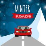 Conception de routes d'hiver Image stock