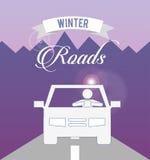 Conception de routes d'hiver Photographie stock