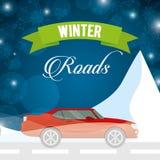 Conception de routes d'hiver Images libres de droits