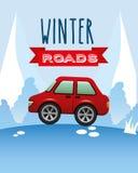 Conception de routes d'hiver Photo libre de droits