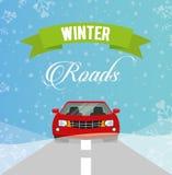 Conception de routes d'hiver Photos libres de droits