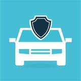 conception de sécurité d'argent de voiture de protection d'assurance illustration stock