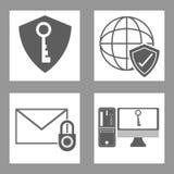 Conception de sécurité de Cyber Photo libre de droits