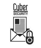 Conception de sécurité de Cyber Photos stock