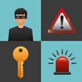 Conception de sécurité de Cyber Images libres de droits