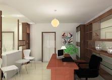 Conception de salle de travail illustration stock