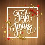 Conception de salutation de partie de Festa Junina Illustration de vecteur illustration libre de droits