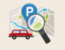 Conception de service de stationnement Photographie stock libre de droits