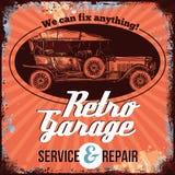 Conception de service de voiture de vintage illustration de vecteur