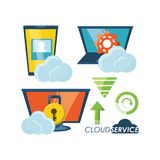 Conception de service de nuage Illustration Stock