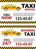 Conception de service de taxi d'affaires au-dessus du fond blanc Illustration détaillée de voiture jaune Illustration plate de ve Photos libres de droits