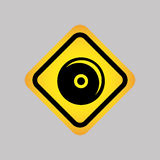 conception de silhouette d'icône du DJ Photos libres de droits