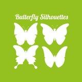 Conception de silhouettes de papillon Images libres de droits