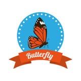 Conception de silhouettes de papillon Image libre de droits
