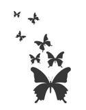 Conception de silhouettes de papillon Photographie stock