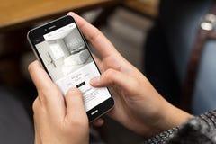 conception de site Web d'hôtel de fille de rue photos libres de droits