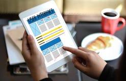 Conception de site Web d'Internet de navigateur d'adresse globale d'INTERFACE UTILISATEURS ainsi photos libres de droits