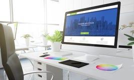 conception de site Web de l'agence 3d Images libres de droits