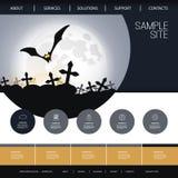 Conception de site Web pour vos affaires avec le thème de Halloween Images libres de droits