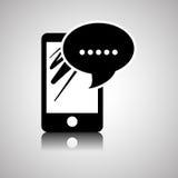 Conception de Smartphone, contact et concept de technologie, vecteur editable Images stock