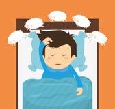 Conception de sommeil Photographie stock libre de droits