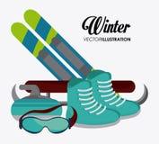 Conception de sport d'hiver Image libre de droits