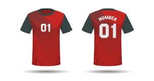 Conception de sport de T-shirt illustration libre de droits