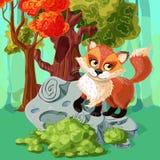 Conception de style de bande dessinée de Fox rouge illustration libre de droits