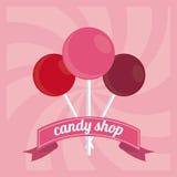 Conception de sucrerie Graphisme doux concept de dessert, illustration de vecteur Images stock